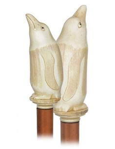 Ivory handle in SHAPE of penguin