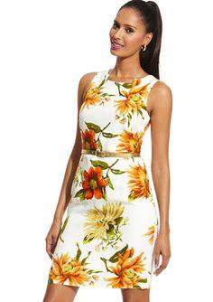 PREMISE Sleeveless Lotus Flower Linen Dress