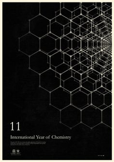 Simon C Page poster for the 2011 INternational Year of Chemistry, one of several on http://veerle.duoh.com/design/article/international_year_of_chemistry_2011