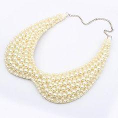 Collar collar falso elegante dulce del color sólido Perlas Faux mujeres del diseño para Vender - La Tienda En Online IGOGO.ES