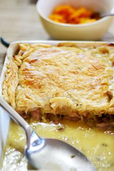 Jamie Oliver's Chicken Pie from 30 Minute Meals via Hummingbird's Song