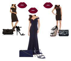 """""""Black and Navy"""" by miss-arcana on Polyvore featuring Christian Louboutin, Miss Selfridge, Judith Leiber, Dorothy Perkins and Lime Crime"""