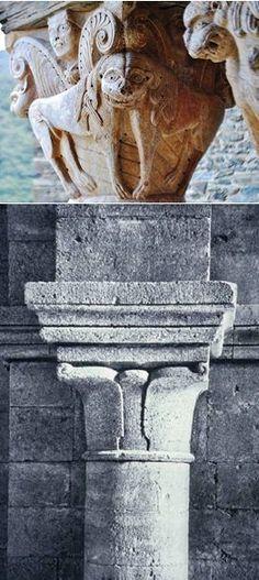 Comparaison d'un chapiteau roman classique et d'un chapiteau cistercien (Prieuré de Serrabonne, XIe siècle // Abbaye de Silvacane, 1114) Romanesque Sculpture, Romanesque Art, Architecture Romane, San Giacomo, Art Roman, French Countryside, Canon, Medieval, Europe