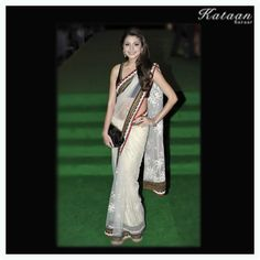 #Anushka Sharma in a White saree