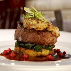 ... Lemon Garlic Greens, Herbed Rosti and Foie Gras Red Currant Jus. More