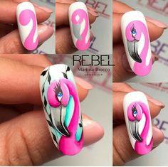 Animal Nail Designs, Animal Nail Art, Fingernail Designs, Acrylic Nail Designs, Mickey Nails, Valentine Nail Art, Red Acrylic Nails, Simple Nail Art Designs, Heart Nails
