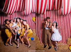 Carnival/circus photobooth idea, very cute