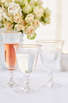 gold rim glass set main image