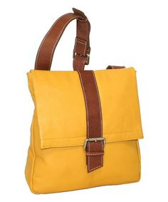 Love this Lemon Heavenly Messenger Bag by Nino Bossi Handbags on #zulily! #zulilyfinds
