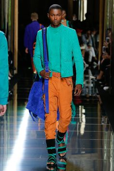 Ohhh - these colours!!!! ---- Balmain Spring 2017 Menswear Collection Photos - Vogue