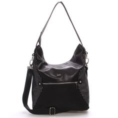 0646f77f76  novinka Středně velká elegantní dámská černá kabelka Carine.Kabelka je z  broušené kůže se