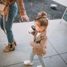 Kindermode – Baby booo – … – Partnerlook Mini & Me – Girl clothes. Children's Fashion – Baby booo – … – Partnerlook Mini & Me – Little Girl Outfits, Little Girl Fashion, Toddler Girl Outfits, Toddler Fashion, Toddler Girl Style, Child Fashion, Stylish Toddler Girl, Toddler Dress, Trendy Baby