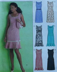 Hey, I found this really awesome Etsy listing at https://www.etsy.com/listing/171430449/sleeveless-dress-sewing-pattern-uncut