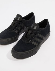 cheap for discount 1cb3c 20749 adidas Skateboarding Adi-Ease Trainers In Triple Black at asos.com
