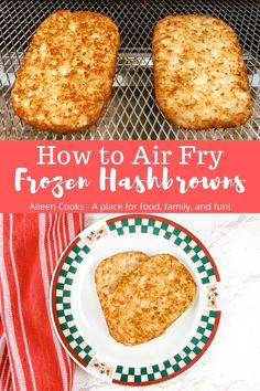 Air fryer frozen hash browns are incredibly easy to make and come out perfectly tender on the inside and crispy on the outside You are going to love making breakfast in your air fryer Air Fryer Oven Recipes, Air Frier Recipes, Air Fryer Dinner Recipes, Air Fryer Cooking Times, Cooks Air Fryer, Nuwave Air Fryer, Frozen Hashbrowns, Frozen Breakfast, Breakfast Bites