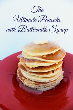 Ultimate pancakes with homemade Buttermilk Syrup! | www.classyclutter.net
