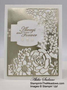 Stampin' Up! Last A Lifetime Wedding Card – Stampin' in the Meadows Wedding Cards Handmade, Handmade Cards, Wedding Aniversary, Specialty Paper, Paper Pumpkin, How To Make Bows, Stampin Up Cards, Free Gifts, Cardmaking