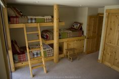 Triple bunk and sofa sleeper with a view of the mountains and TV/VCR for the kids at this vacation rental in Lake Tahoe, California