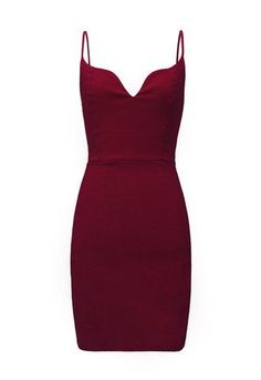 Oxblood burgundy spaghetti strap dress #gioielli #quarzo-ciliegia - dresses, gold, pretty, backless, evening, dance dress *ad