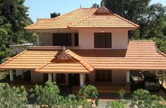 Two Story House Design, Village House Design, Kerala House Design, Village Houses, Kerala Traditional House, Traditional House Plans, Traditional Homes, Dream House Plans, My Dream Home