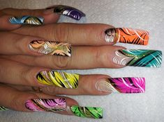 NEON BLAST by AlysNails - Nail Art Gallery nailartgallery.nailsmag.com by Nails Magazine www.nailsmag.com #nailart