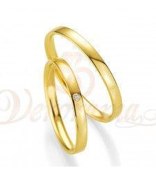 Βέρες γάμου χρυσές με διαμάντι breuning 4301-4302