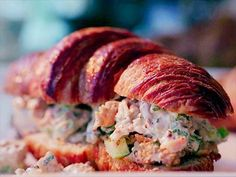 """Fried Chicken Salad Sandwiches - Damaris Phillips, """"Southern At Heart"""" on the Food Network."""