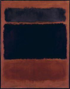 Mark Rothko, Untitled ( Black in Deep Red), 1957