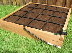 All in one, 4×4 Raised Garden Kit w/ its own watering system and planting grid! Modular design, no tools needed, expandable to larger sizes!