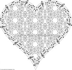 Musical Heart Coloring Pages #11 – GetColoringPages.org