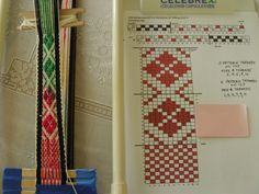 "From the blog of Daisy Hill Weaving Studio  ""I recently ran across an article in Handwoven, J/F 1996, pg 50, showing the pick-up technique for weaving patterns on an inkle loom.  I liked the designs, so I got out my homemade inkle loom and warped it up after modifying the pattern a little bit."""