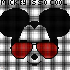 Needlepoint Patterns, Perler Patterns, Counted Cross Stitch Patterns, Bead Patterns, Mickey Mouse And Friends, Mickey Minnie Mouse, C2c Crochet, Disney Ears, Knitting Charts