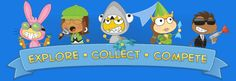 "Poptropica ~ ""A virtual world for kids to travel, play games, compete in head-to- head competition, and communicate safely."""