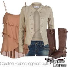 """""""Caroline Forbes inspired outfit/The Vampire Diaries"""" by tvdsarahmichele on Polyvore"""