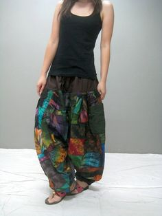 Patchwork harem pant omg.....this has my name All over it!!!! WANT!!!!!! So freakin bad!!!