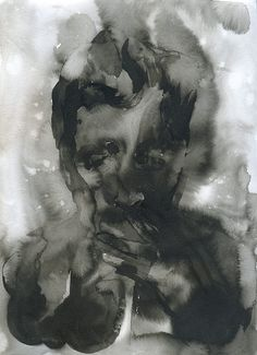 SMOKEY-LYNCH Artist: Noora Isoeskeli, 2011. Painting, ink on paper. 21x29,7 cm. More works from the artist at www.tabulaland.com/tuote-osasto/taiteilijat-osasto/noora-isoeskeli/