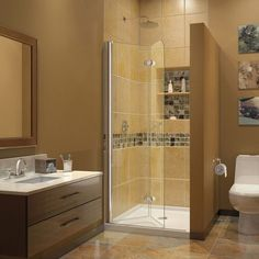"428 DreamLine Aqua Fold 33.5"" x 72"" Hinged Shower Door"