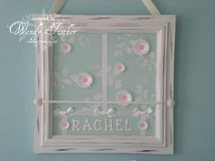 Try this as a gift 4 new moms but make space 4 them 2 add photos-cute framed art for kids room.  : )