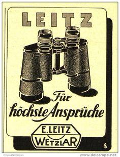 Original-Werbung/Inserat/ Anzeige 1950 - LEITZ / FELDSTECHER/FERNGLÄSER - ca. 60 x 90 mm