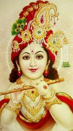 Hare Krishna... Krishna Hindu, Cute Krishna, Jai Shree Krishna, Radha Krishna Pictures, Krishna Radha, Hindu Deities, Krishna Images, Lord Krishna, Shiva