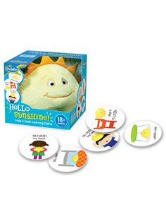 Hello Sunshine Hide and Seek Learning Game for ages 18 months and up.