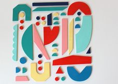 typographie puzzle - Cécile Vignau