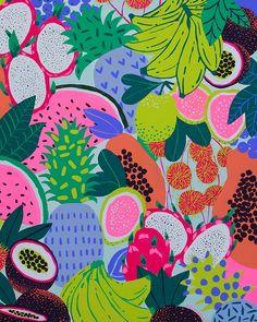 Fruit Print Wallpaper Wallpapers 36 Ideas For 2019 Fruit Illustration, Pattern Illustration, Graphic Illustration, Food Illustrations, Print Wallpaper, Pattern Wallpaper, Iphone Wallpaper, Wallpaper Wallpapers, Art Watercolor