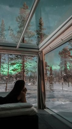 The Northern Lights Ranch in Finland Skyview cabins and on-site reindeer. We've never been so excited for winter. Vacation Places, Dream Vacations, Vacation Spots, Honeymoon Destinations, Northern Lights Ranch, Northern Lights Finland, Northern Lights Viewing, Oh The Places You'll Go, Cool Places To Visit