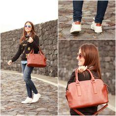 Carolina González Toledo - Stradivarius Sneakers, David Jones Bag, Suiteblanco Sweatshirt - Bugs & Sneakers