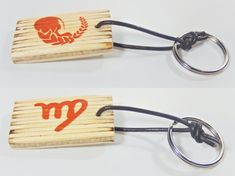 Keychain with zodiac sing and astrological symbol Virgo, birthday gift, keys organization, Valentine's Day, gift for him, gift for her, by BurnedMatchCreations on Etsy