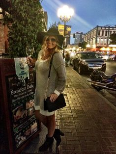 LLScene Co-Founder, Lilly #OnTheScene in the Gaslamp District in San Diego!