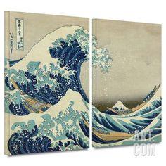 The Great Wave Off Kanagawa 2 piece gallery-wrapped canvas Gallery Wrapped Canvas Set by Katsushika Hokusai at Art.com