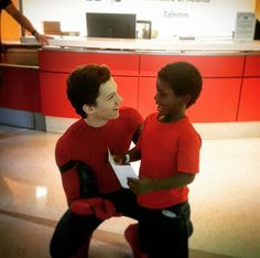 Tom Holland visiting a children's hospital as Spiderman
