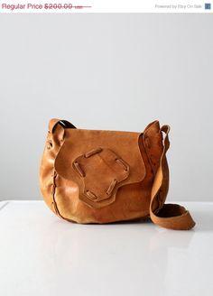 1970s leather purse / vintage boho bag by 86Vintage86